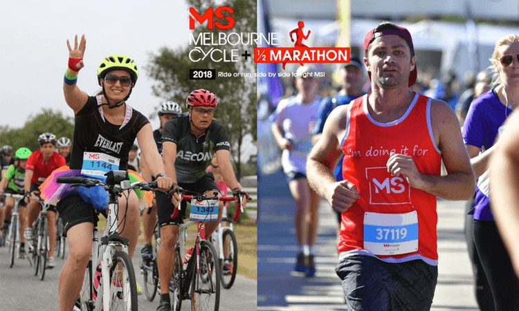 MS Melbourne Cycle and Half Marathon 2019