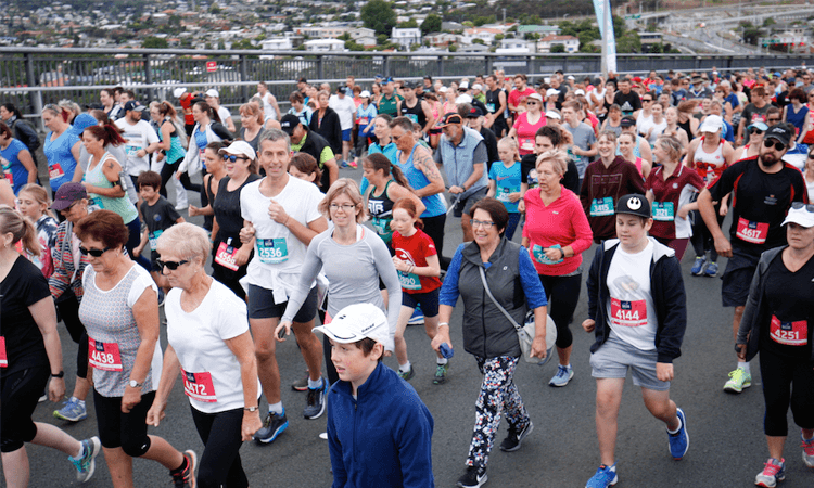 Bank of Us Run the Bridge in Hobart Tasmania walkers
