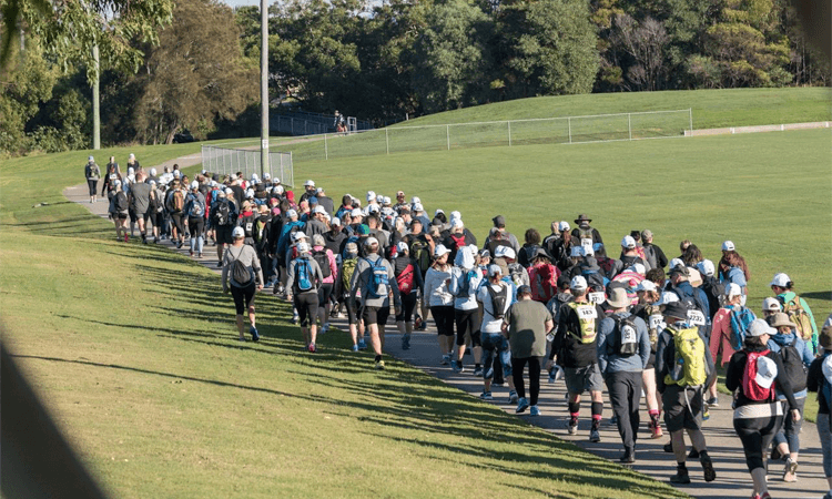 The Bloody Long Walk Wollongong NSW 2020 group