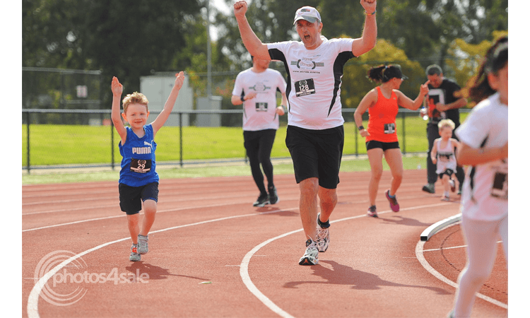 2020 Casey Stride Series Fun Run Race 2 Great Gallop Melbourne 2020 father and son