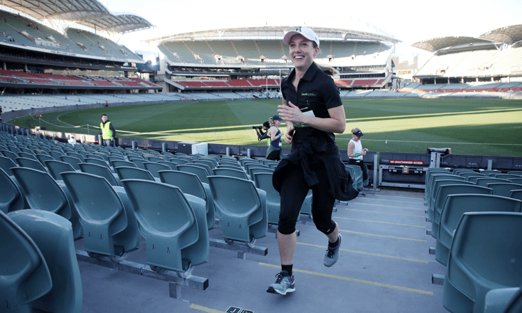 Stadium Stomp Adelaide Oval Stair Challenge cricket pitch
