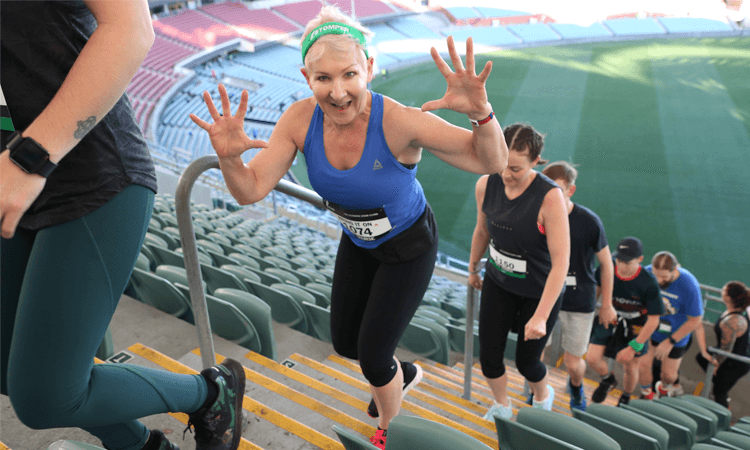 Stadium Stomp Adelaide Oval Stair Challenge waves