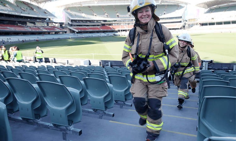 Stadium Stomp Adelaide Oval Stair Challenge fire fighter
