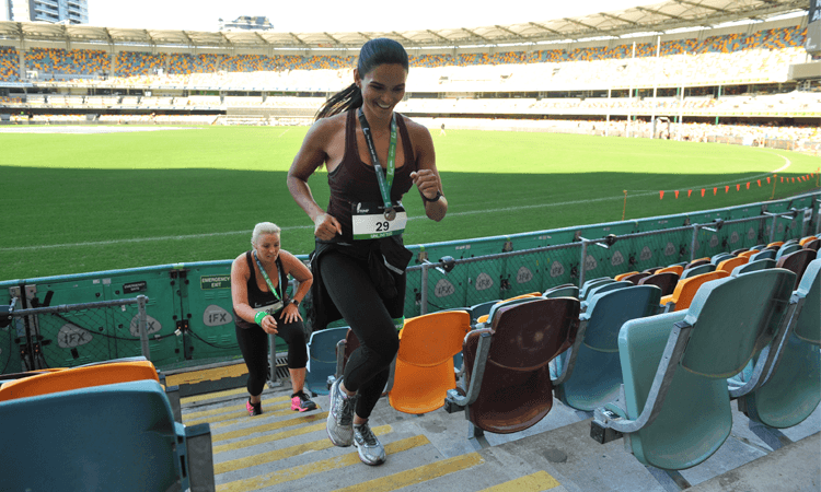 Stadium Stomp stair challenge GABBA 2020 Brisbane cricket field