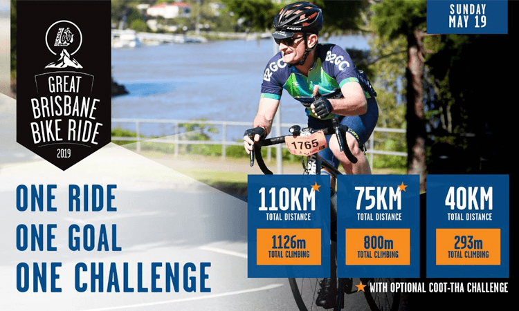The Great Brisbane Bike Ride incl Coot-tha Challenge 2019 in Queensland